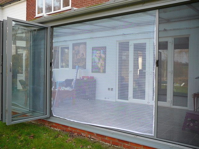Flyscreen bi fold door for Fly curtains for french doors