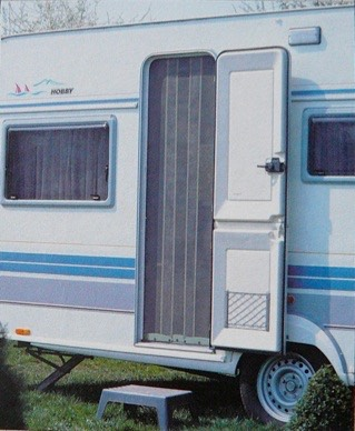 Flyscreen Caravan Door outside