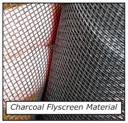 Flyscreen Charcoal material