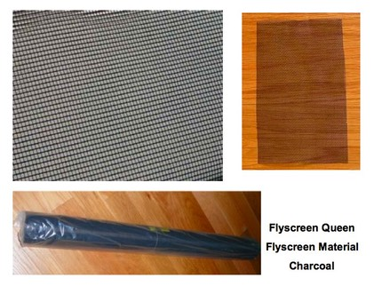 Flyscreen Material Charcoal