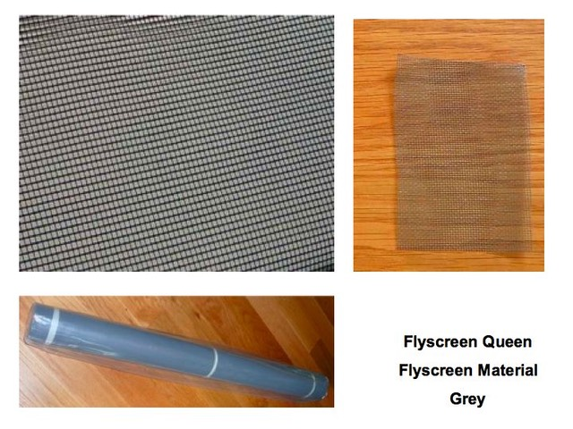 Flyscreen material grey