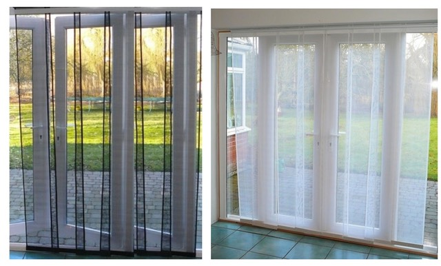 Flyscreen multipanel 2 0 for Fly curtains for french doors
