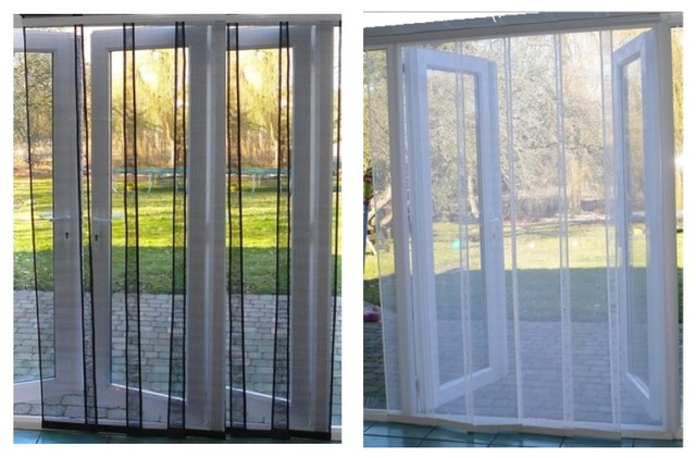Flyscreen multipanel for Fly curtains for french doors