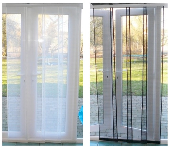 Fly screen curtain for french doors curtain menzilperde net for Fly curtains for french doors