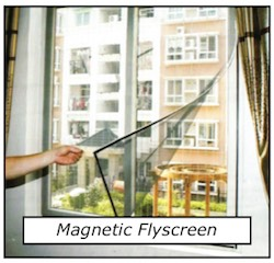 Magnetic flyscreen Window