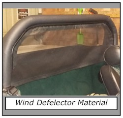 Wind deflector material